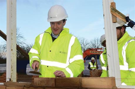 Chancellor: spending review emphasises delivery of homeownership rather than affordable and social renting (pic REX FEATURES)