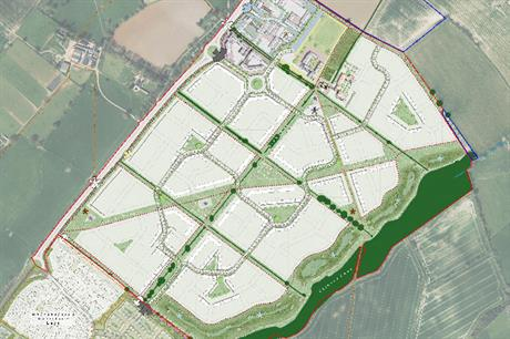 A masterplan image of the Overstone Green scheme (pic credit: Davidsons Homes/L&Q )