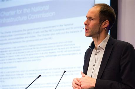 NIC chief executive Phil Graham speaking at the Planning for Housing conference earlier today