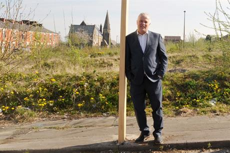 Gavin Prescott, planning manager at Blackburn with Darwen Council, on Alaska Street: a brownfield site recently granted permission for 73 modular dwellings