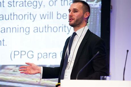 Rob Krszyzowski speaking at the Planning for Housing conference yesterday