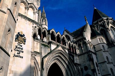 The Royal Courts of Justice in London, where the Court of Appeal sits