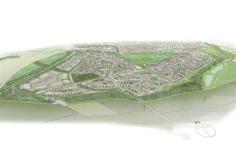 A masterplan visualisation of the development. Image courtesy of CWC