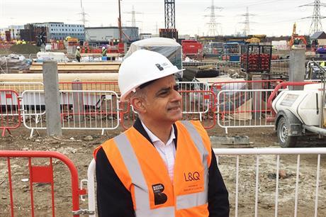 London mayor Sadiq Khan launching the document earlier today at Barking Riverside