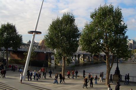 London's Southbank: area included in neighbourhood plan