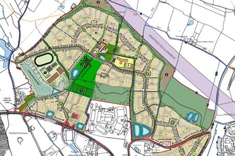 A masterplan image of the Stafford scheme (pic credit: Maximus Strategic Stafford LLP)
