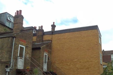 The illegal extension at 65 St James's Street, Walthamstow
