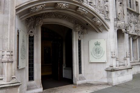 The Supreme Court in London