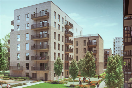 The proposed Victoria Quarter housing development (Pic: One Housing)