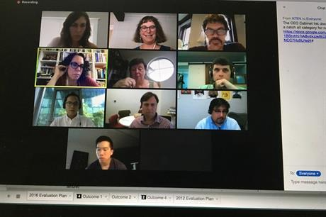 Virtual meeting technology. Pic: Beth Kanter, Flickr