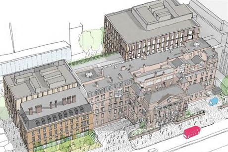 A visualisation of plans for the new Tower Hamlets town hall