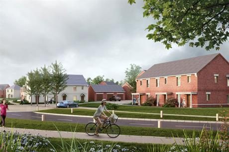 A visualisation of part the finished Woburn Sands development (pic: Norr Architects)