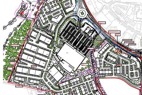 A masterplan visualisation of the development. (Image courtesy of Abbey Manor Group Ltd and Sainsbury's Supermarkets Ltd)