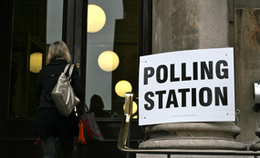 Polling station: vote on city mayors set for 3 May 2012