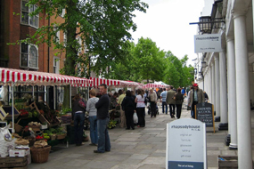 A street market in Tunbridge Wells: Dissolved regeneration company had planned to develop parts of the town