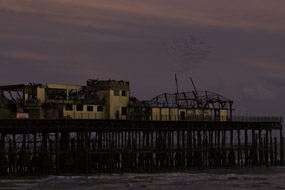 Hastings Pier suffered extensive fire damage in 2010