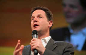 Clegg: to reiterate government commitment to garden cities