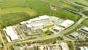 An aerial view of Peel's plans to redevelop the Whitebirk retail park, Lancashire