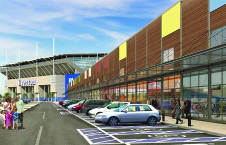 Turned down: a visualisation of the scheme proposed by Everton Football Club
