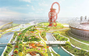 Olympic Park: spaces will form part of legacy plans