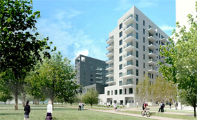 Quintain: artist's impression of new Greenwich homes
