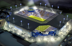 Visualisation of Everton Football Club's proposed stadium
