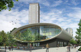 The Hub: building marks first phase of wider regeneration