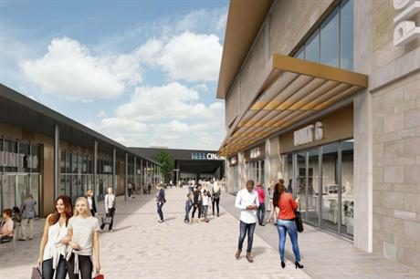 The planned Pioneer Place combines a cinema, food outlets, retail space and car parking (PIC AEW Architects)
