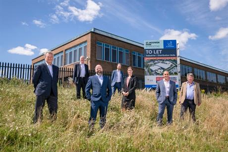 Representatives from St Modwen, the council and ITT at the business park site in Basingstoke  (PIC St Modwen)