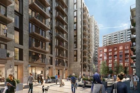 The proposal provides a new connection between Barking town centre and the River Roding (PIC Broadway Malyan)