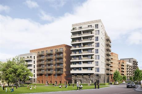 The latest phase of Acton Gardens includes mixed tenure homes in distinctive buildings (PIC Stitch Studio)