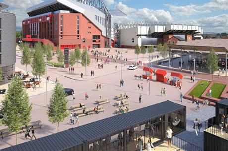 Liverpool's Anfield stadium is the focus for area regeneration (PIC Virtual Planit)