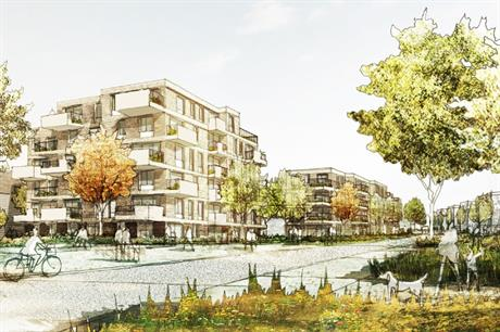 The second phase of Ashmere will incorporate tree-lined streets and pocket parks (PIC PRP/Countryside/Latimer)