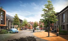 A visualisation of the Larner Road estate, Erith, following regeneration