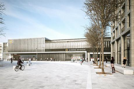 The design for the planned Barking Riverside station, by Moxon Architects