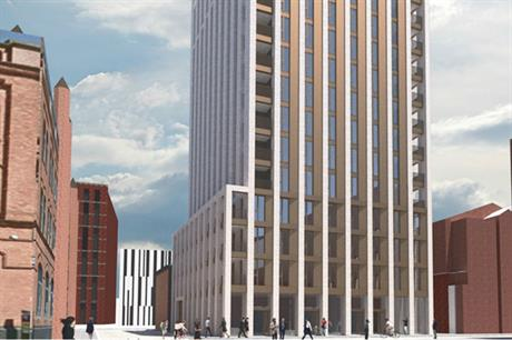 FCB Studios' design for Belfast's first build to rent building rises to 16 storeys