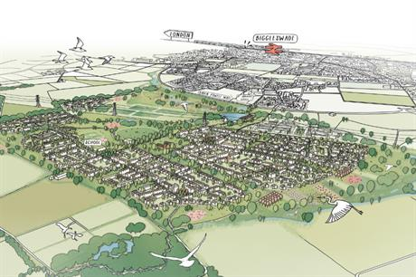 The extension to Biggleswade is being designed to complement both town and surrounding countryside (PIC HTA/UKR)