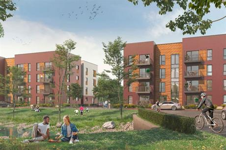 In the UK BoKlok is initially focusing on developing schemes of between 40 and 200 homes (PIC BoKlok)
