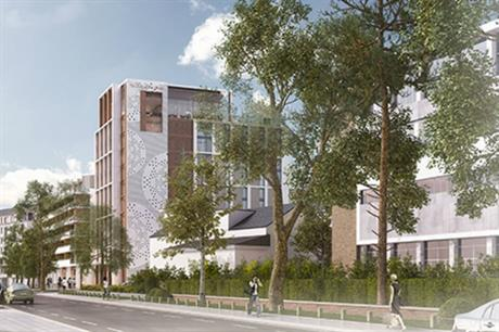 The design for the Bournemouth scheme includes a rooftop bar for the hotel (PIC 5plus architects)