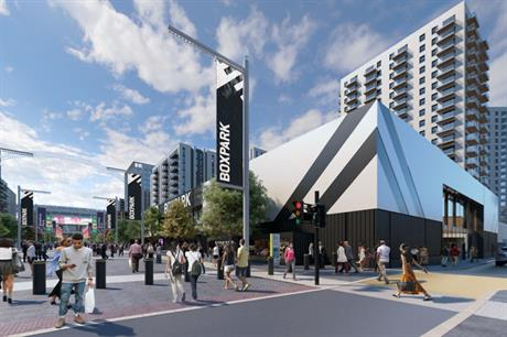 Boxpark Wembley will be located in the heart of the Wembley Park regeneration