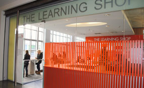 The Learning Shop is a partnership between Bluewater shopping centre, North-West Kent College and Jobcentre Plus.