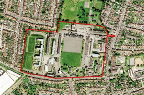 The historic Hounslow Cavalry Barracks site includes 14 grade 2 listed buildings