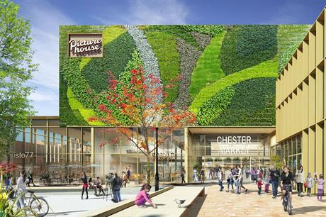The proposals for the Chester Northgate scheme include living walls (PIC AHR)