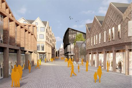 The scheme gives a contemporary slant on the historic fabric of Chester (PIC Cheshire West and Chester Council)
