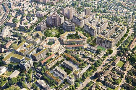 PRP's masterplan for the Clapham Park estate regeneration covers an area of 33 hectares