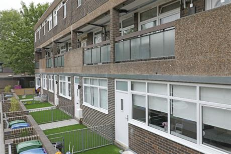 The homes created in the former clinic have their own defined outdoor space
