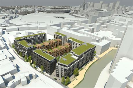 The Cooks Road scheme combines commercial space with 194 homes