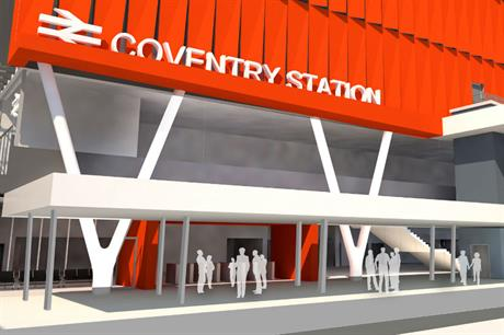 The masterplan for Coventry Station includes a new station concourse (PIC D5 Architects)