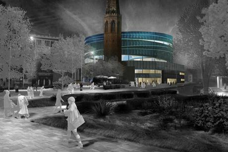 FaulknerBrowns' design for a proposed water park for Coventry city centre (PIC Coventry City Council)