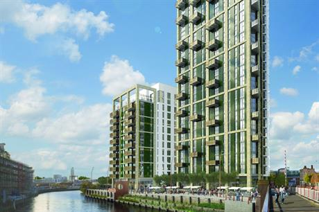 RBS and HSBC are backing the development of Essential Living's Creekside Wharf (PIC Assael Architecture)